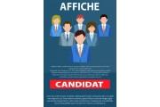 Affiche élections 59,4x84,1cm