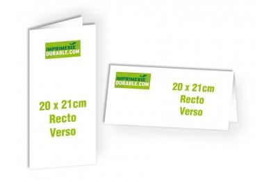 Format 21x20 - 2 Volets - Recto/Verso